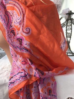 Großes Vintage  Tuch Seide