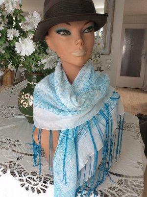 aus Italien Shoulder Scarf white-baby blue