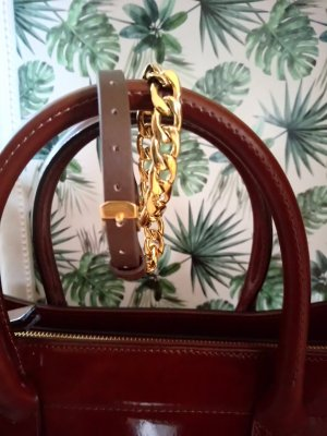 Großgliedriges Armband Leder/Metall