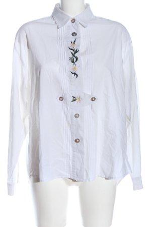 Grubig Trachten Chemise bavaroise blanc motif de fleur élégant