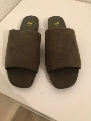 H&M Beach Sandals green grey
