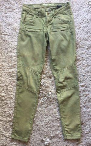 Grün gelb Khaki Hose Unikat Jeans