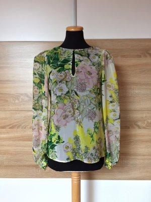 Grün gelb weiß Sommer Bluse von Zara, Gr. XS, (NEUw.)