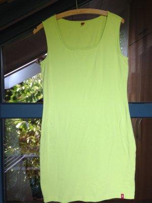 edc by Esprit Sukienka ze stretchu limonkowy żółty Bawełna