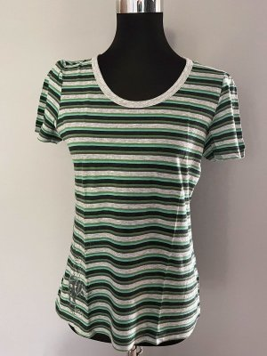 Grün/grau gestreiftes T-Shirt von Esprit Sports, Gr. 40