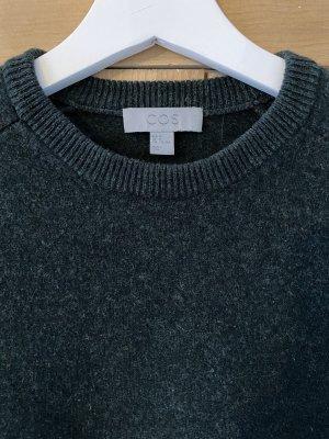 Grün/Grauer Wollpullover von Cos