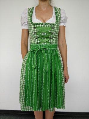 Almsach Vestido Dirndl blanco-verde