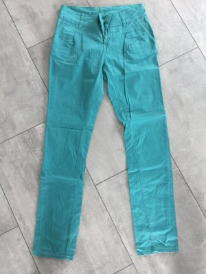 Grün / mint farbene Hose, Röhrenhose, Chino