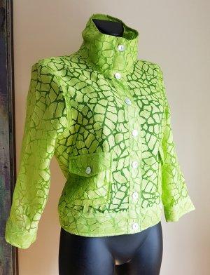 Ruby Street Marynarka koszulowa zielona łąka Len