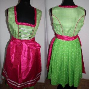 Grün/Pinkes Dirndl