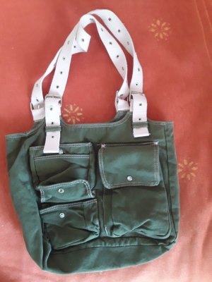 grün-rosa Handtasche
