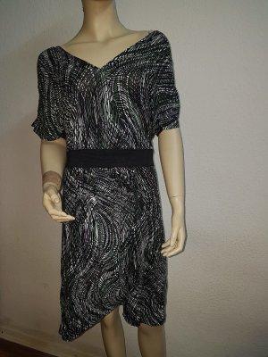 grün schwarz gestreiftgemustertes Kleid Größe 36 Neu mit Etikett