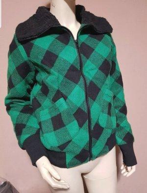 AJC Veste en laine noir-vert