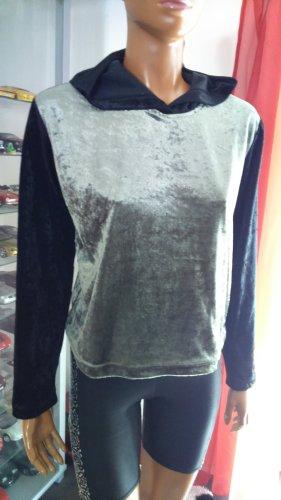 Authentic Style Koszulka z kapturem czarny-oliwkowy