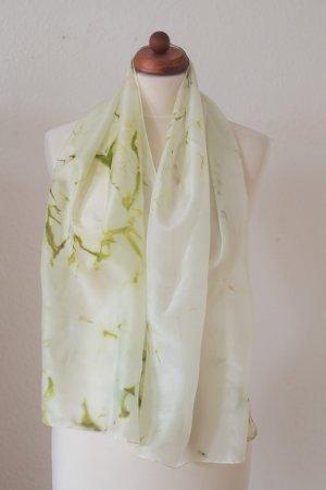 Handarbeit Silk Cloth pale green-lime-green silk