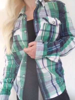 Vintage Camicia da boscaiolo multicolore Cotone