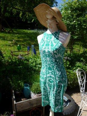 Grün-Weiß Sommerkleid Strandkleid Stretchkleid Gr. M