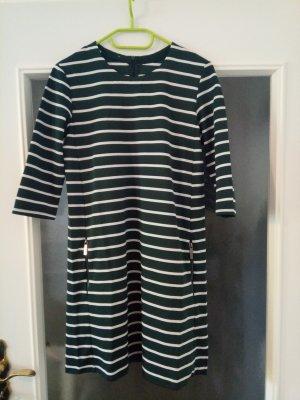 Grün-weißes Kleid mit 3/4 Arm