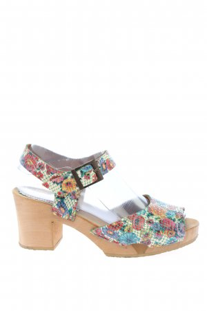 Grünbein Clog Sandals flower pattern casual look