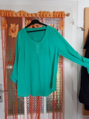 Blusa de manga larga verde