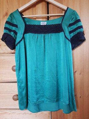 grüne Bluse aus Seide