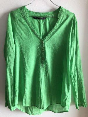 Zara Linen Blouse green