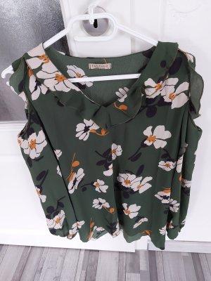 Grüne Bluse mit Blumenmuster gr.L XL