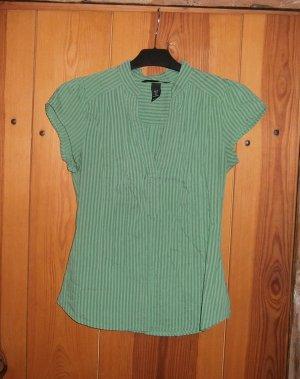 Grüne Bluse mit dezentem Streifenmuster * Größe 36