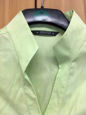Eterna Blouse à col montant vert pâle