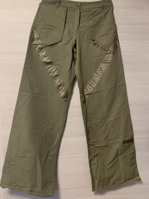 Pantalone a zampa d'elefante grigio-verde