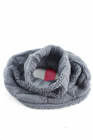 Grüne Erde Crochet Scarf light grey cable stitch business style