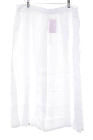 Grüne Erde Jupe en lin blanc style décontracté