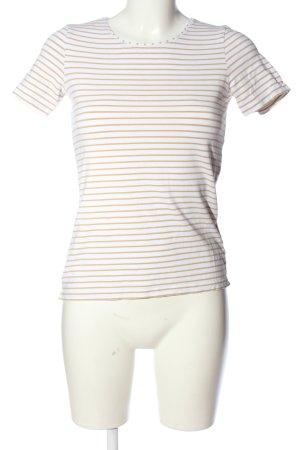 Grüne Erde T-Shirt weiß-hellorange Allover-Druck Casual-Look