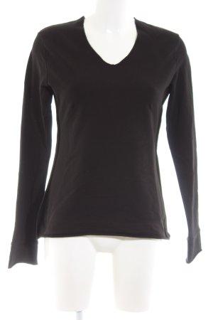 Grüne Erde V-Ausschnitt-Pullover schwarz Business-Look