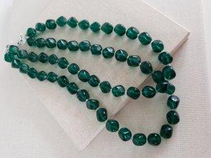 Retro Kette Pearl Necklace dark green-petrol