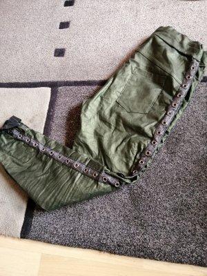 Pantalon cigarette vert forêt