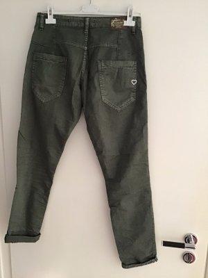 Please Baggy jeans khaki Katoen