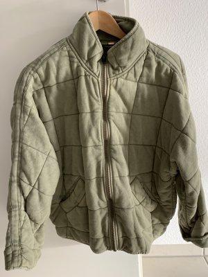 Free People Oversized Jacket khaki cotton