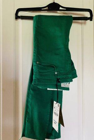 Zara Pantalon cinq poches multicolore