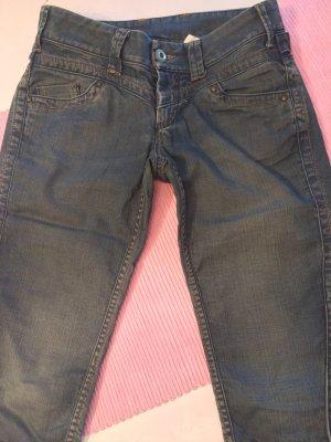 Vero Moda Skinny Jeans dark green cotton