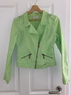grüne Jeansjacke