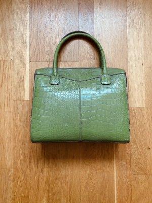 Grüne (Kunst-)Schlangenleder Tasche