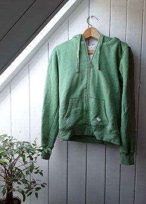 Fishbone Chaqueta de tela de sudadera verde claro-verde hierba