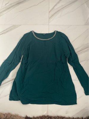 grüne Langarm Bluse