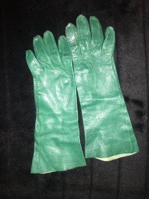 Guantes de cuero verde bosque