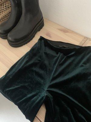 Grüne samthose Zara