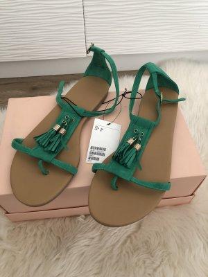 H&M Sandalen met bandjes groen