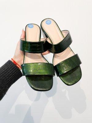 Truffle Collection Sandalias cómodas verde oscuro-verde bosque