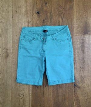1982 Pantalón corto de tela vaquera verde-turquesa Algodón