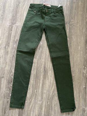 Zara Trafaluc Jeans slim vert forêt-vert foncé